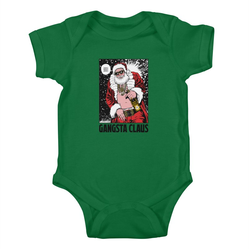 Gangsta Claus Kids Baby Bodysuit by Billmund's Artist Shop