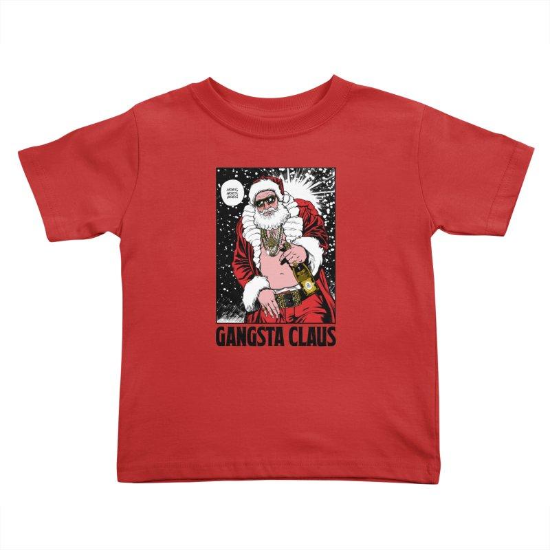 Gangsta Claus Kids Toddler T-Shirt by Billmund's Artist Shop