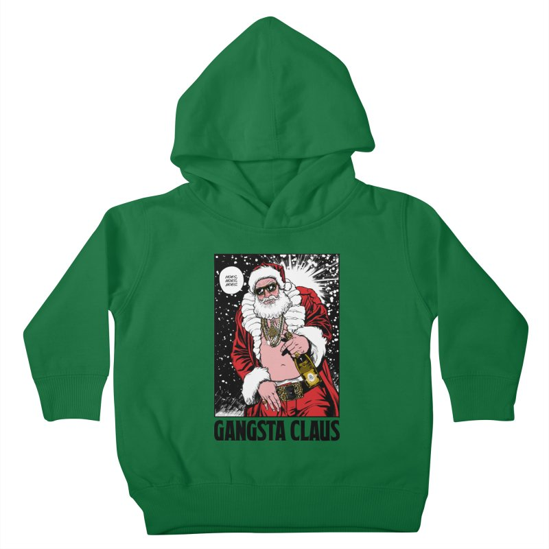 Gangsta Claus Kids Toddler Pullover Hoody by Billmund's Artist Shop