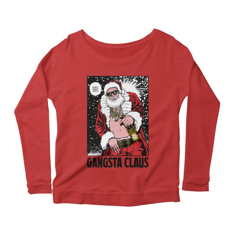 Gangsta Claus Women's Longsleeve Scoopneck  by Billmund's Artist Shop