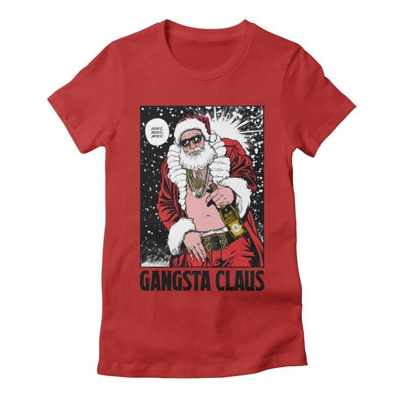 Gangsta Claus Women's Fitted T-Shirt by Billmund's Artist Shop