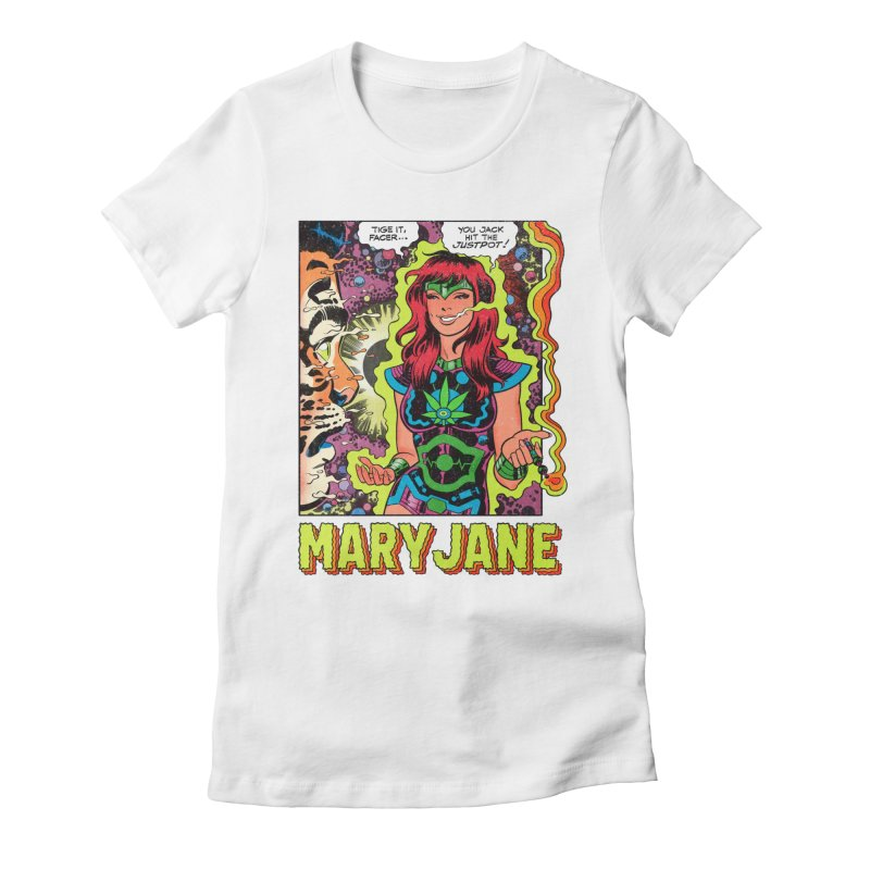 Mary Jane Women's Fitted T-Shirt by Billmund's Artist Shop