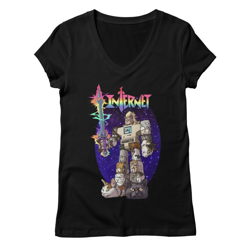 INTERNET Women's V-Neck by Billmund's Artist Shop