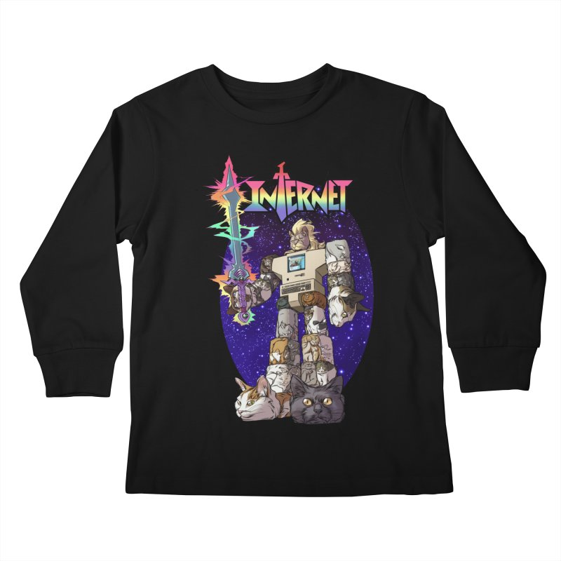 INTERNET Kids Longsleeve T-Shirt by Billmund's Artist Shop