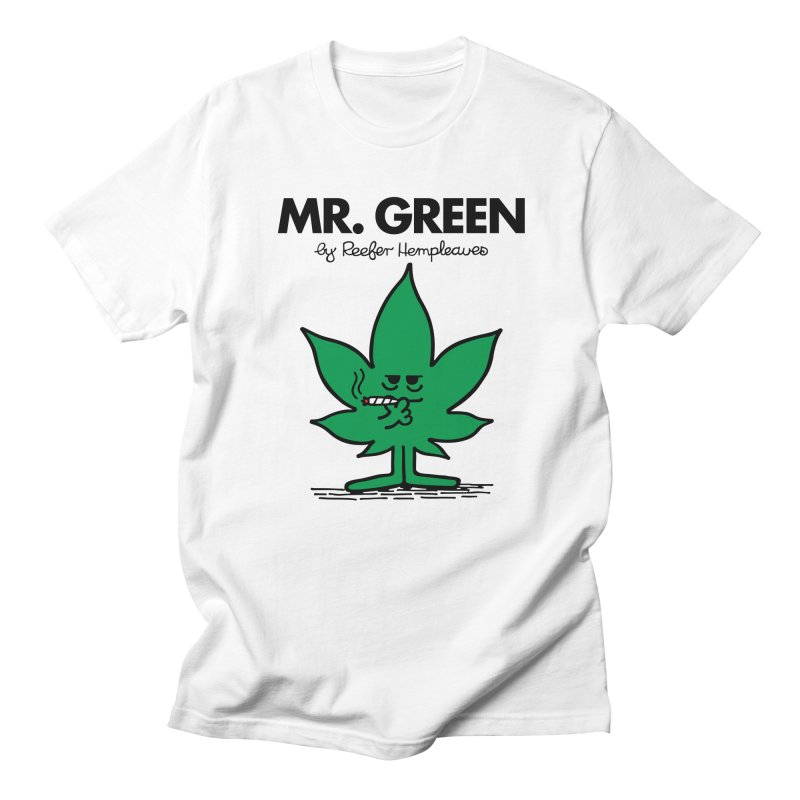 Mr. Green in Men's T-Shirt White by Billmund's Artist Shop