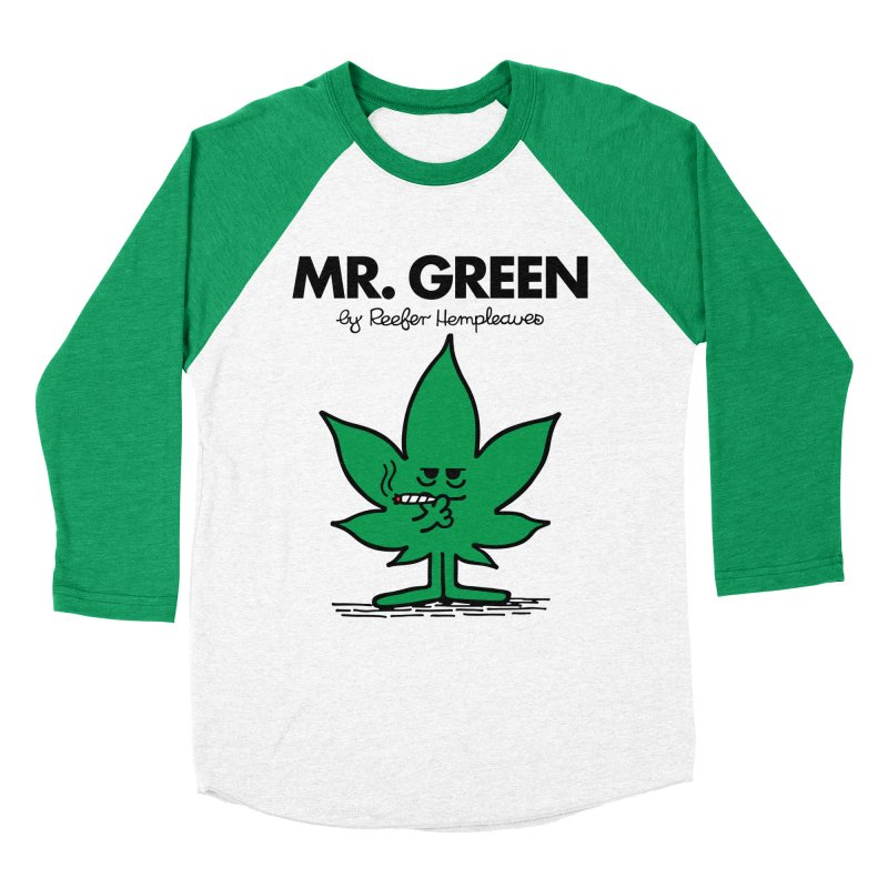 Mr. Green Men's Baseball Triblend T-Shirt by Billmund's Artist Shop