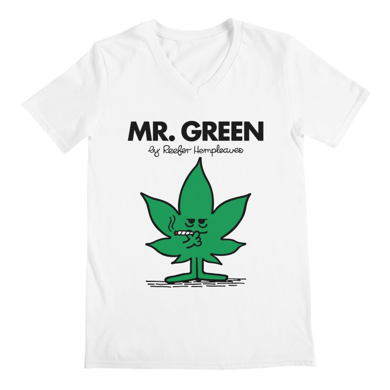 Mr. Green Men's V-Neck by Billmund's Artist Shop