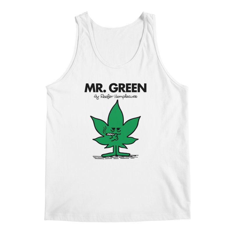 Mr. Green Men's Tank by Billmund's Artist Shop