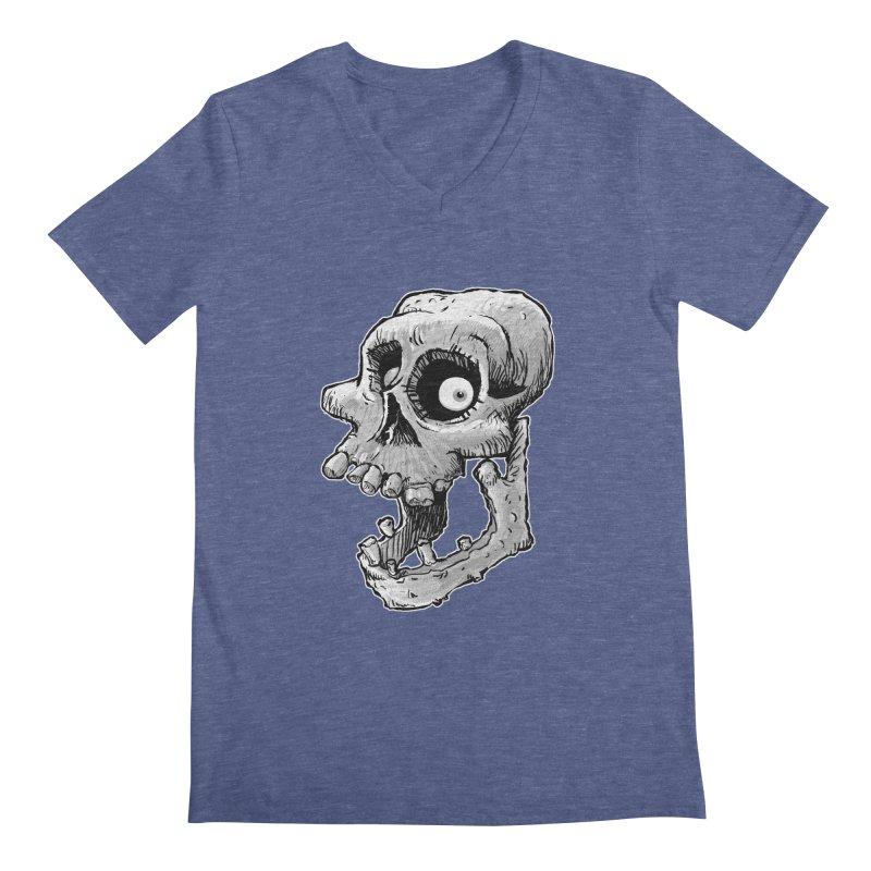 Bonehead Men's V-Neck by Billy Allison's Shop