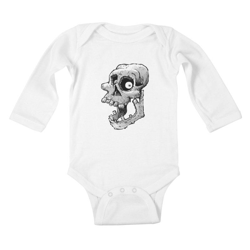 Bonehead Kids Baby Longsleeve Bodysuit by Billy Allison's Shop