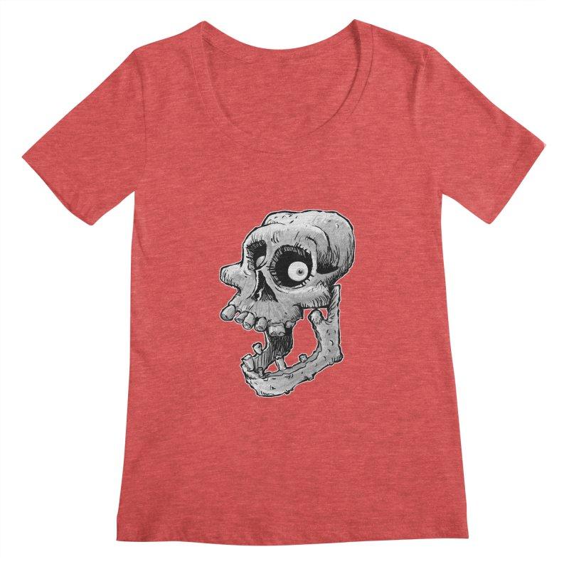 Bonehead Women's Scoopneck by Billy Allison's Shop