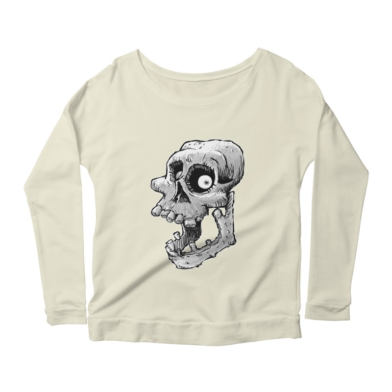 Bonehead Women's Longsleeve Scoopneck  by Billy Allison's Shop