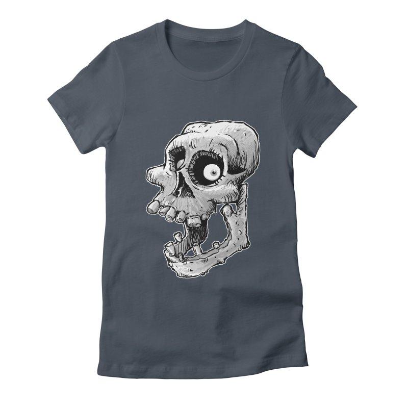 Bonehead Women's Fitted T-Shirt by Billy Allison's Shop