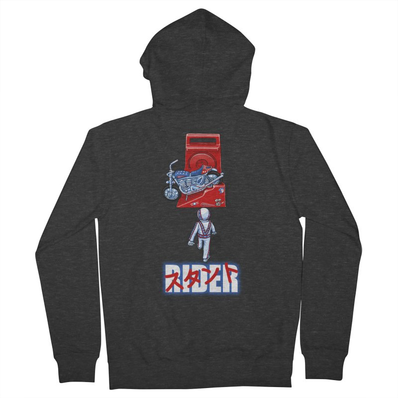 stunt rider Men's Zip-Up Hoody by Billy Allison's Shop