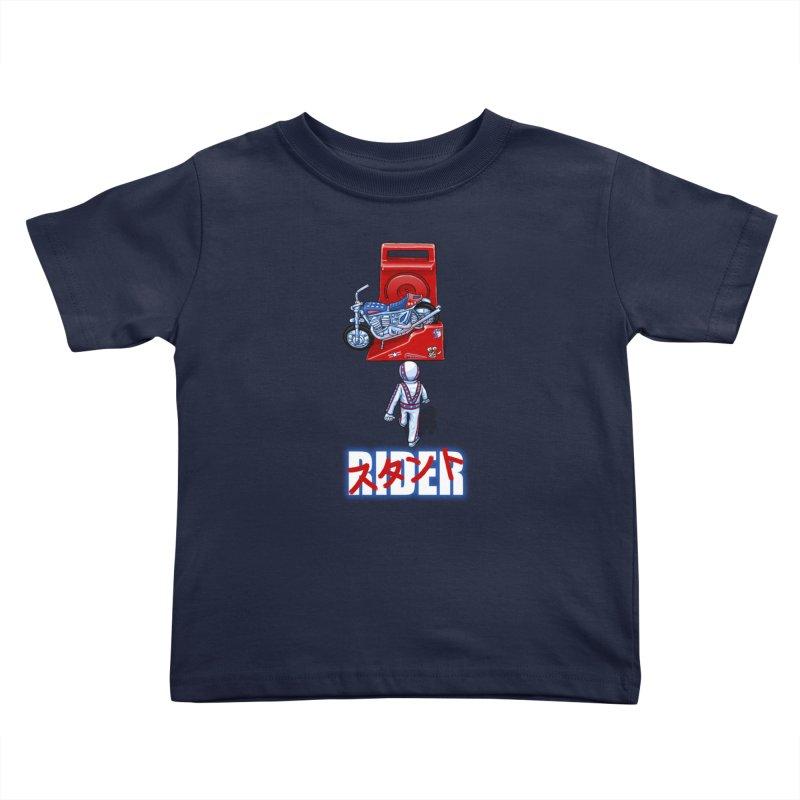 stunt rider Kids Toddler T-Shirt by Billy Allison's Shop