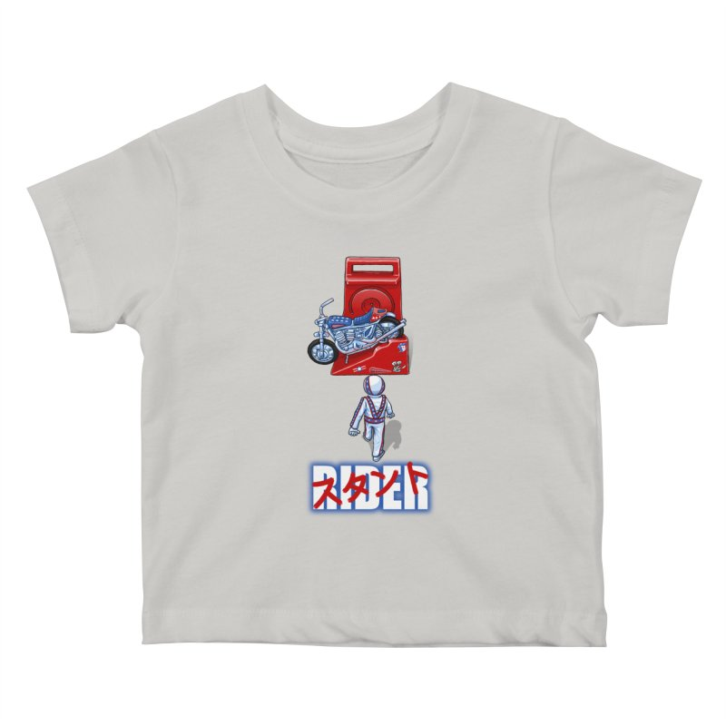 stunt rider Kids Baby T-Shirt by Billy Allison's Shop