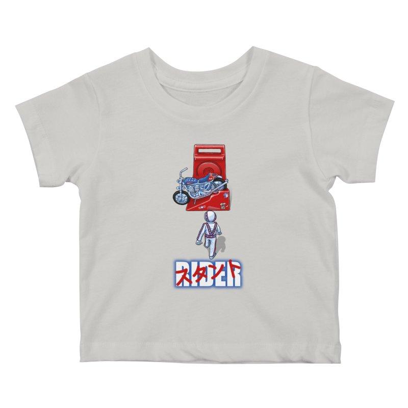 stunt rider Kids Baby T-Shirt by Billy Allison's Shop