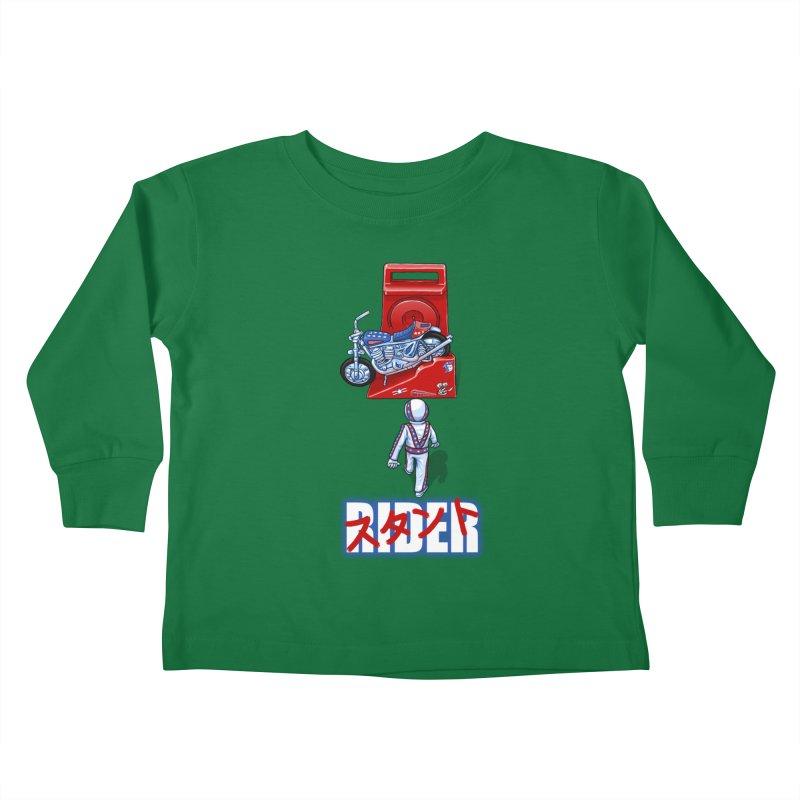 stunt rider Kids Toddler Longsleeve T-Shirt by Billy Allison's Shop