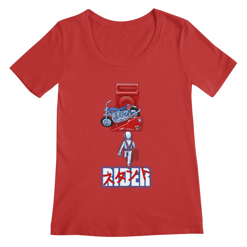 stunt rider Women's Scoopneck by Billy Allison's Shop