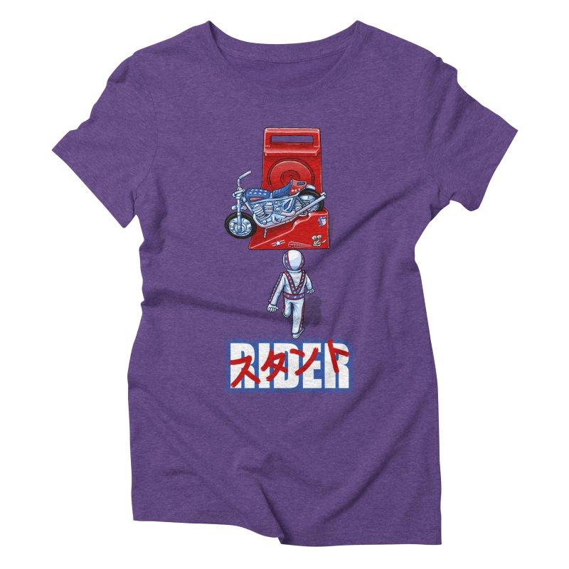 stunt rider Women's Triblend T-shirt by Billy Allison's Shop