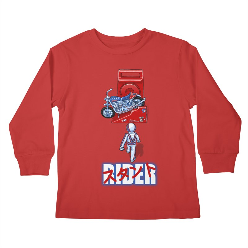 stunt rider Kids Longsleeve T-Shirt by Billy Allison's Shop