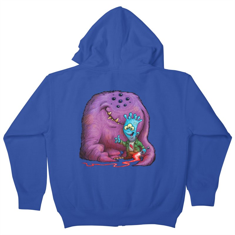 A Boy and his Grogg Kids Zip-Up Hoody by Billy Allison's Shop
