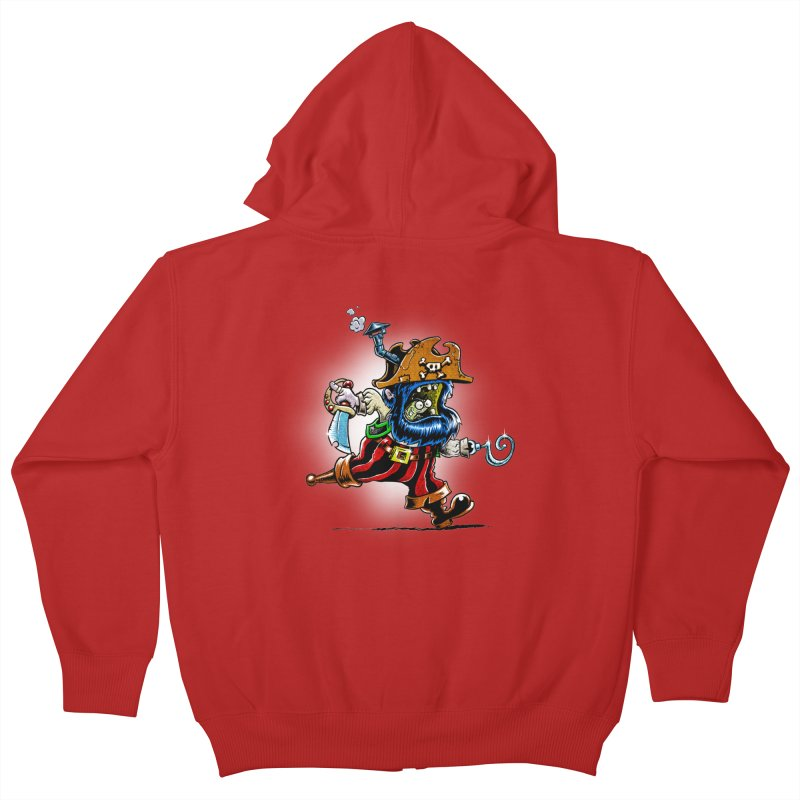 SteamPirate! Kids Zip-Up Hoody by Billy Allison's Shop