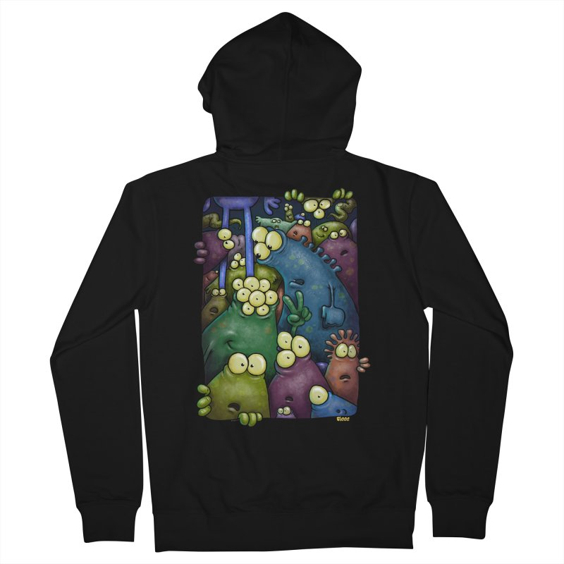 crowded Men's Zip-Up Hoody by Billy Allison's Shop