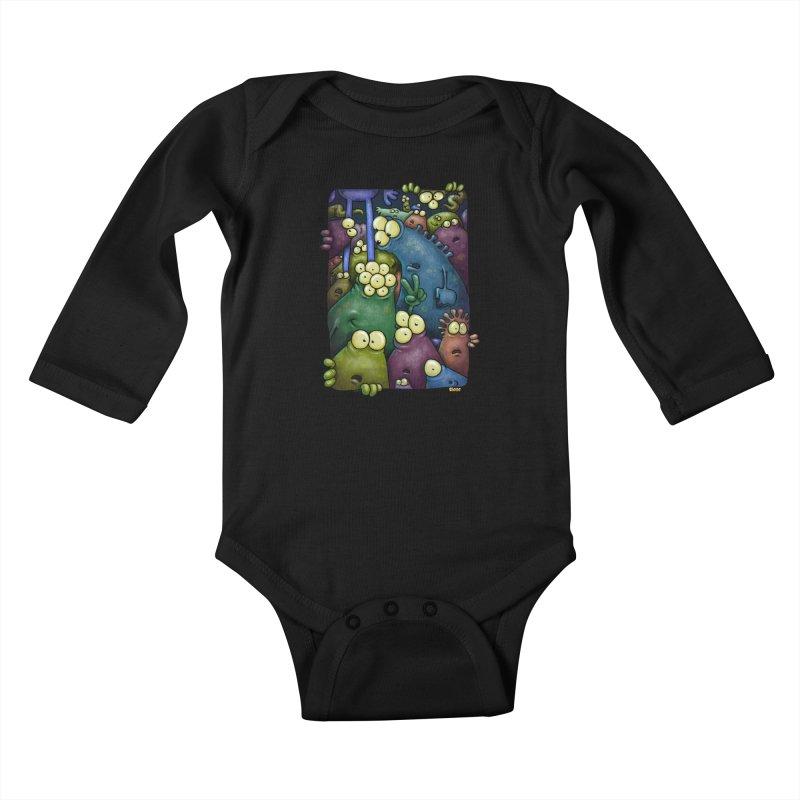 crowded Kids Baby Longsleeve Bodysuit by Billy Allison's Shop