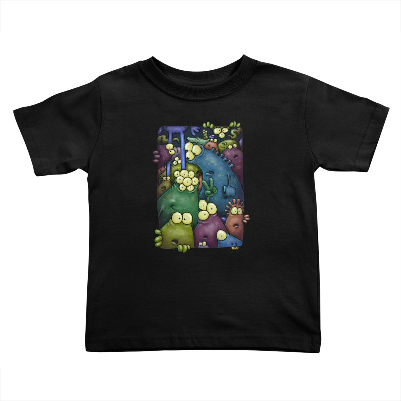 crowded Kids Toddler T-Shirt by Billy Allison's Shop