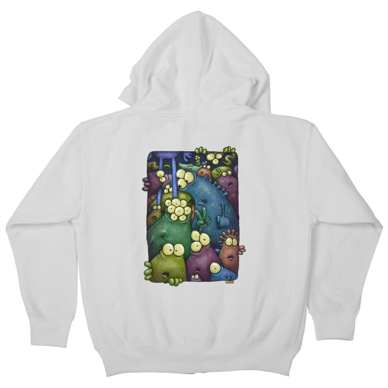 crowded Kids Zip-Up Hoody by Billy Allison's Shop