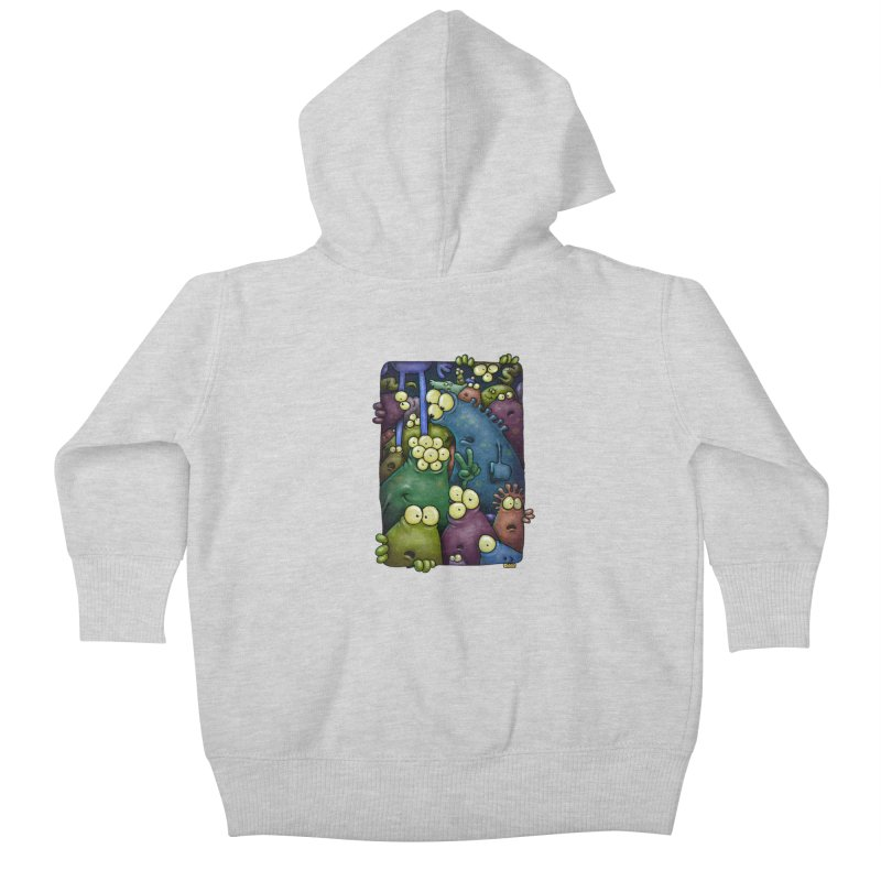 crowded Kids Baby Zip-Up Hoody by Billy Allison's Shop