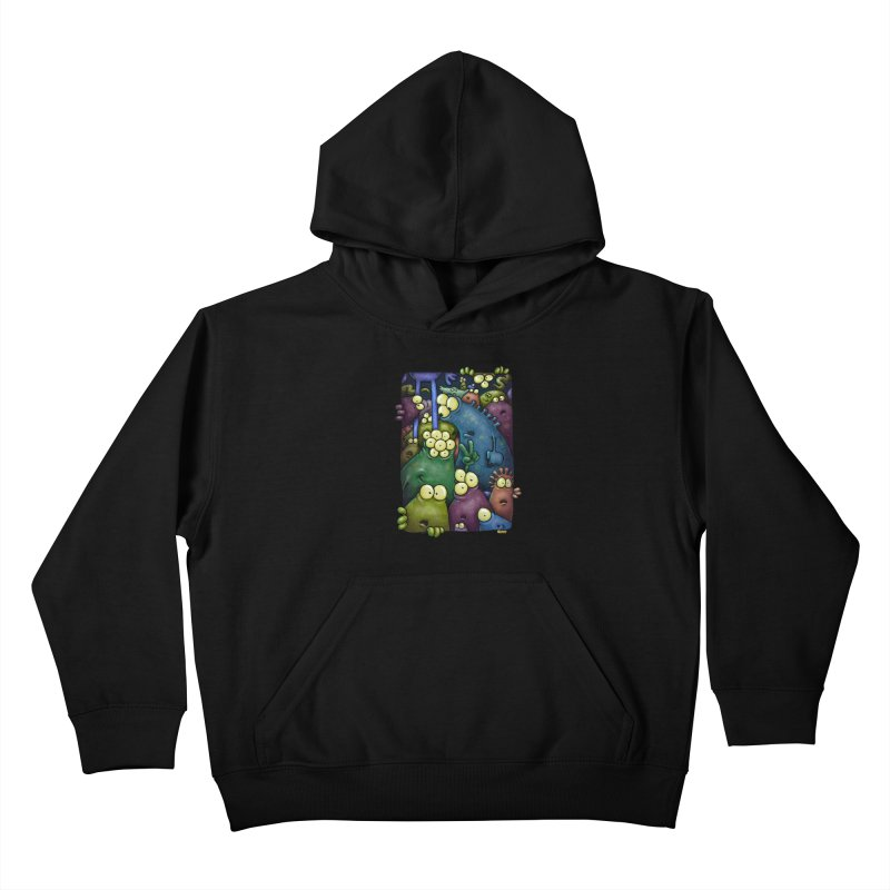 crowded Kids Pullover Hoody by Billy Allison's Shop