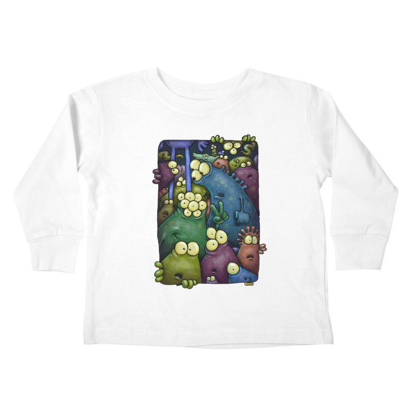 crowded Kids Toddler Longsleeve T-Shirt by Billy Allison's Shop