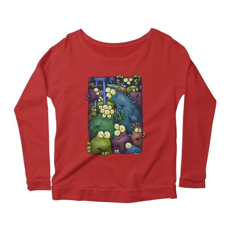 crowded Women's Longsleeve Scoopneck  by Billy Allison's Shop