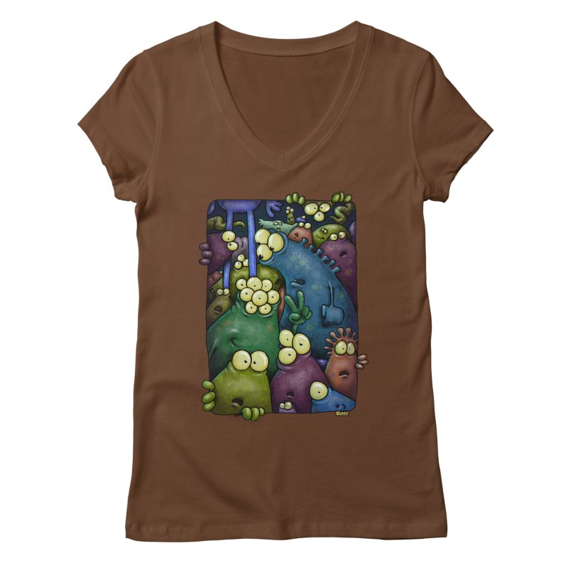 crowded Women's V-Neck by Billy Allison's Shop