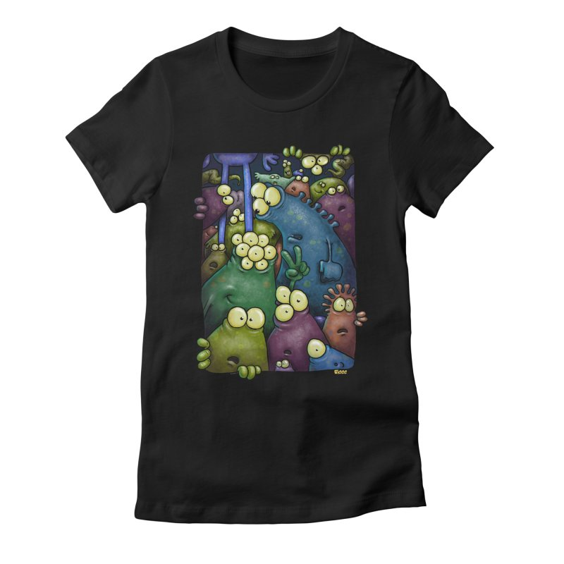 crowded Women's Fitted T-Shirt by Billy Allison's Shop