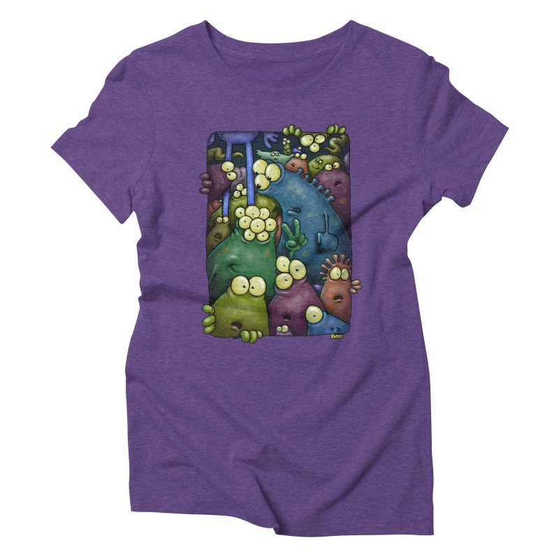 crowded Women's Triblend T-shirt by Billy Allison's Shop