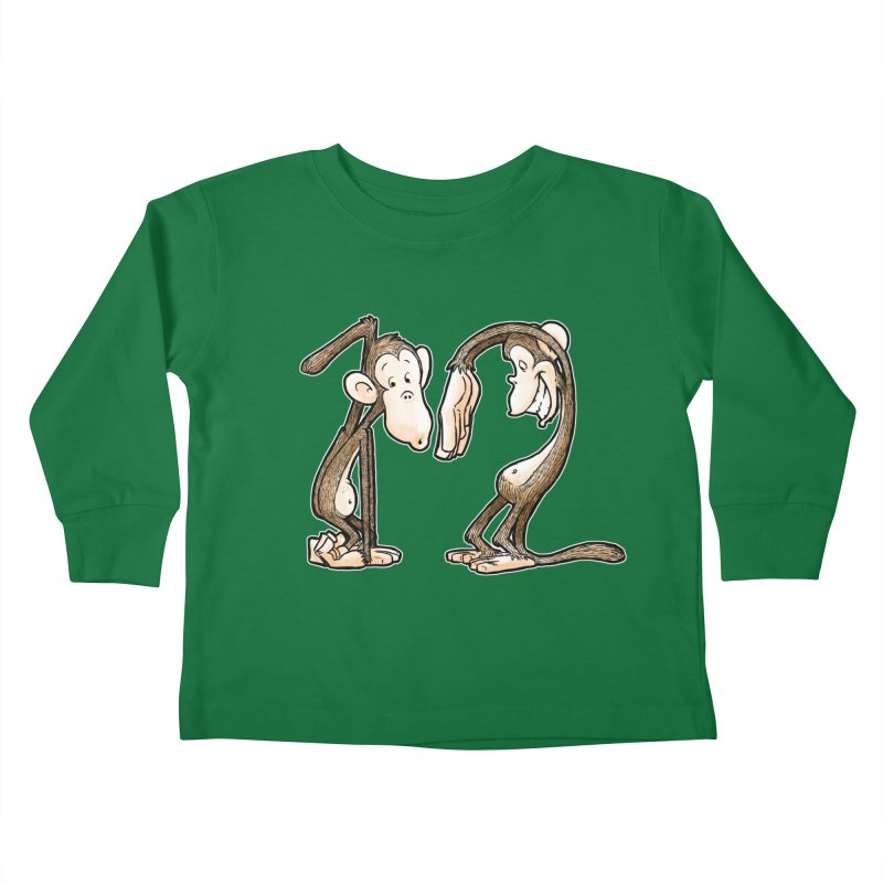 The Twelve Monkeys Kids Toddler Longsleeve T-Shirt by Billy Allison's Shop