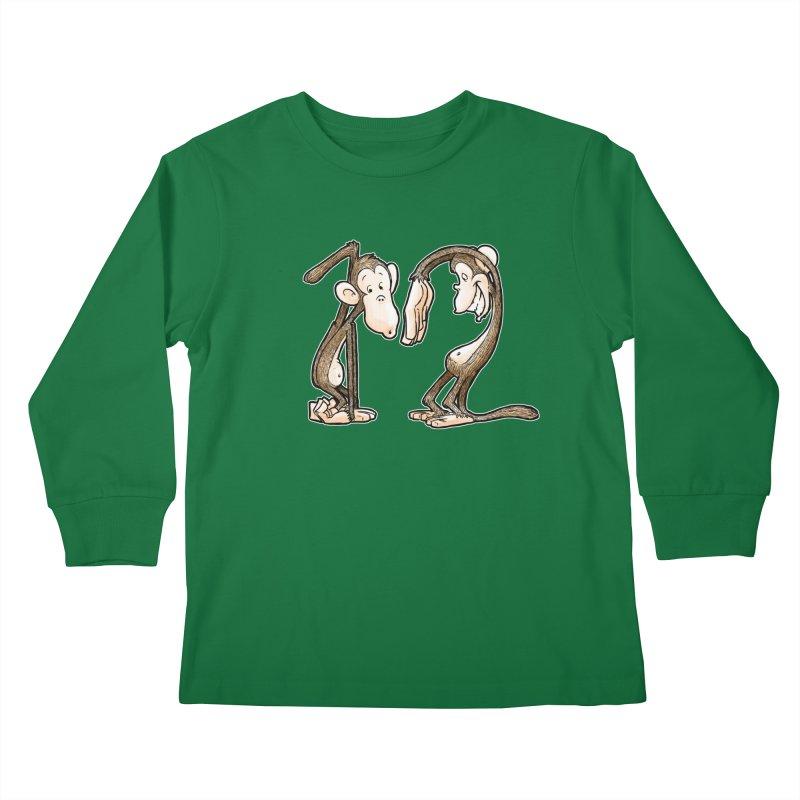 The Twelve Monkeys Kids Longsleeve T-Shirt by Billy Allison's Shop
