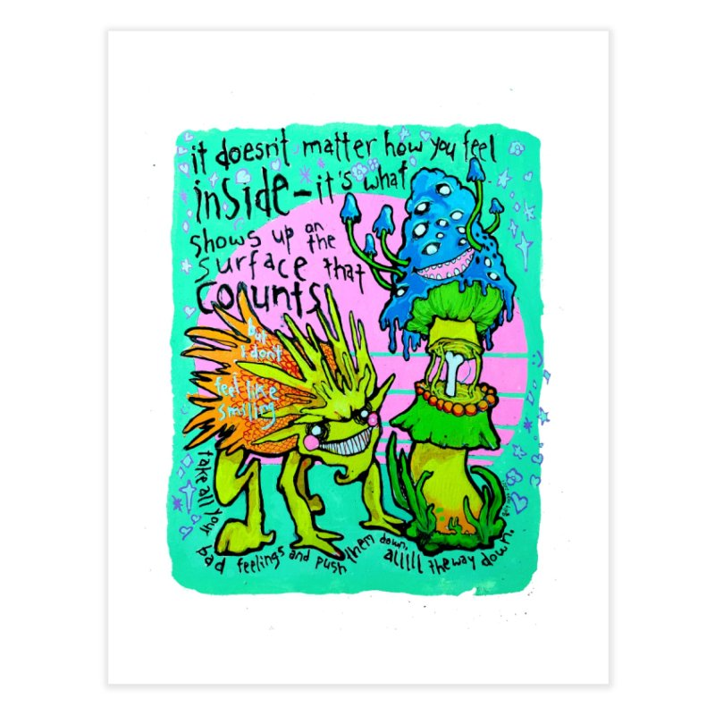 Simpsons bad advice Home Fine Art Print by billydraw