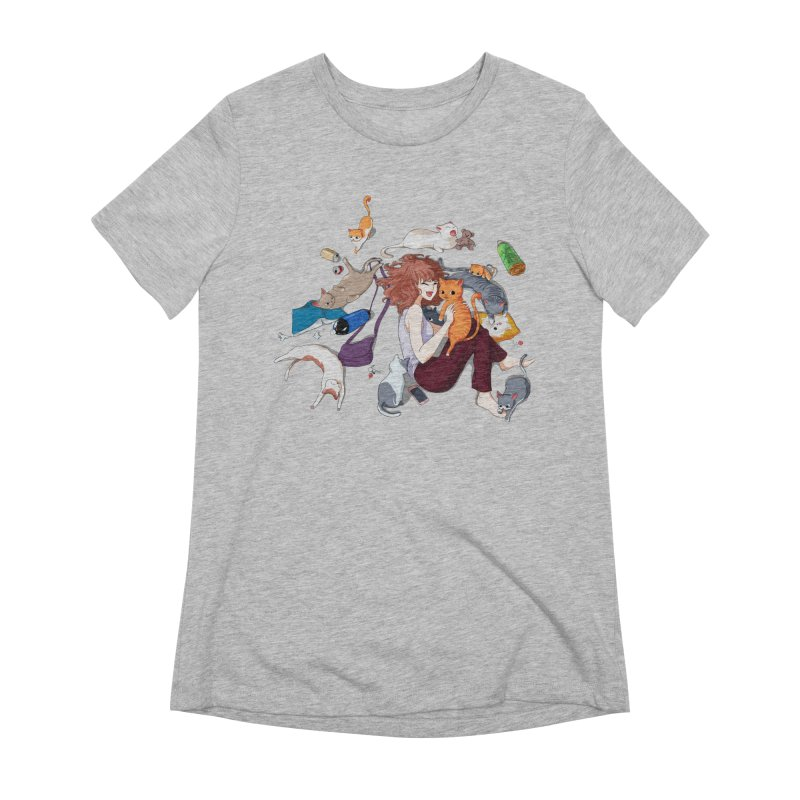 Anime Cat Girl Women's Extra Soft T-Shirt by Designs by Billy Wan