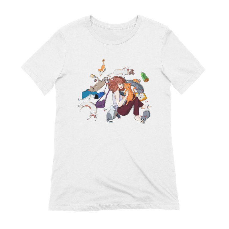 Anime Cat Girl Women's T-Shirt by Designs by Billy Wan