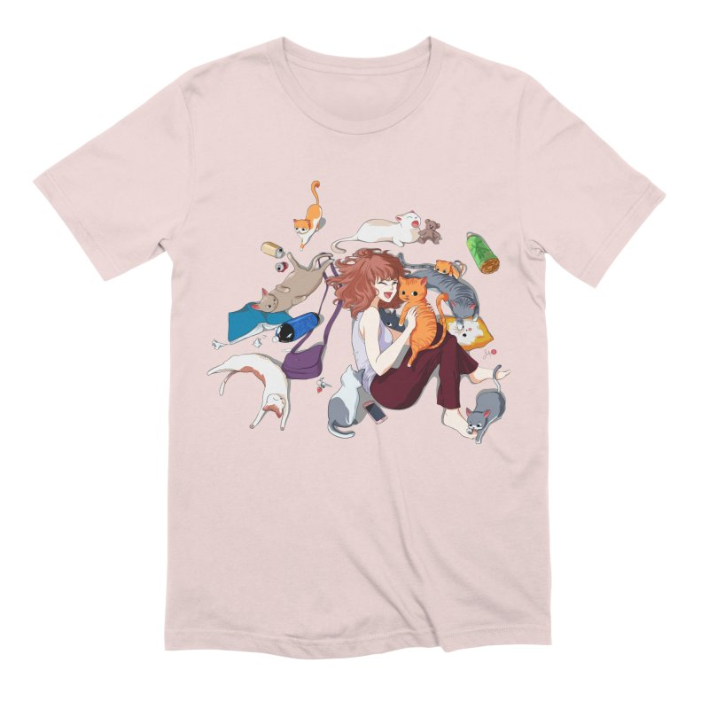 Anime Cat Girl Men's Extra Soft T-Shirt by Designs by Billy Wan
