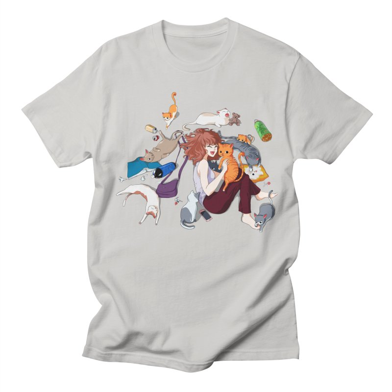 Anime Cat Girl Men's T-Shirt by Designs by Billy Wan
