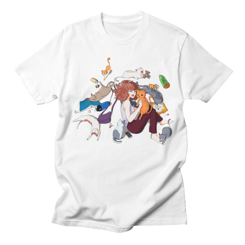 Anime Cat Girl Women's Regular Unisex T-Shirt by Designs by Billy Wan