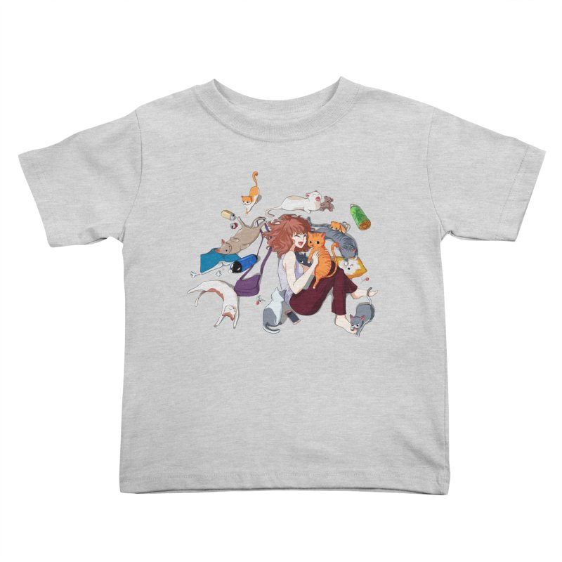 Anime Cat Girl Kids Toddler T-Shirt by Designs by Billy Wan