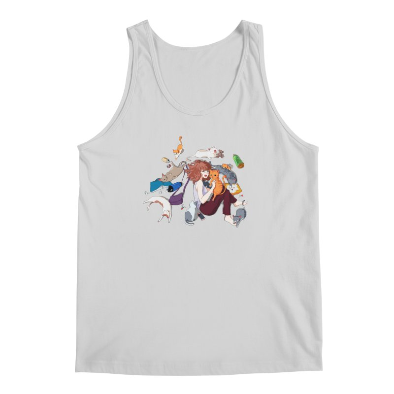 Anime Cat Girl Men's Regular Tank by Designs by Billy Wan