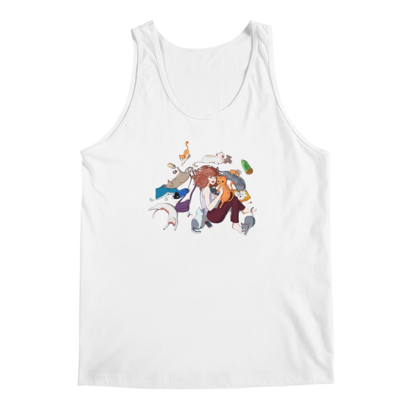 Anime Cat Girl Men's Regular Tank by Designs by Billy Wan