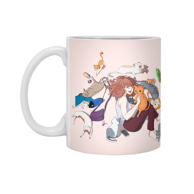 Anime Cat Girl Accessories Standard Mug by Designs by Billy Wan
